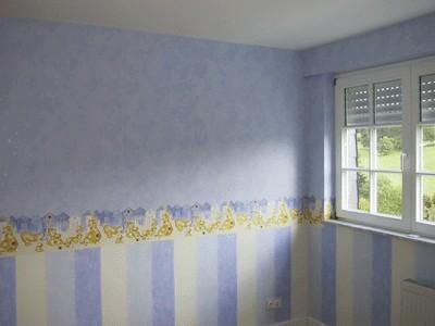 Wand decke tapezierung und farbiger anstrich von ralf rohn for Raumgestaltung beruf